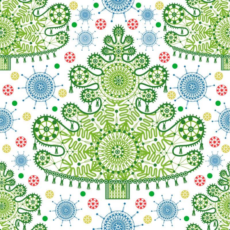 Seamless lace christmas tree pattern