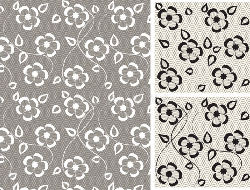 Seamless Lace Floral Pattern Stock Photos