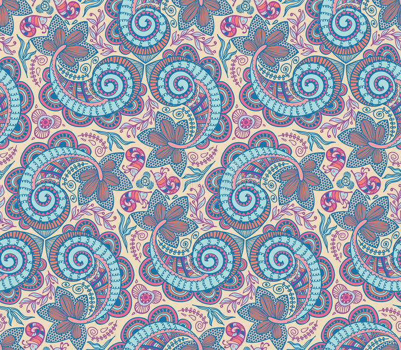Download Seamless lace pattern stock illustration. Illustration of deco - 23488166