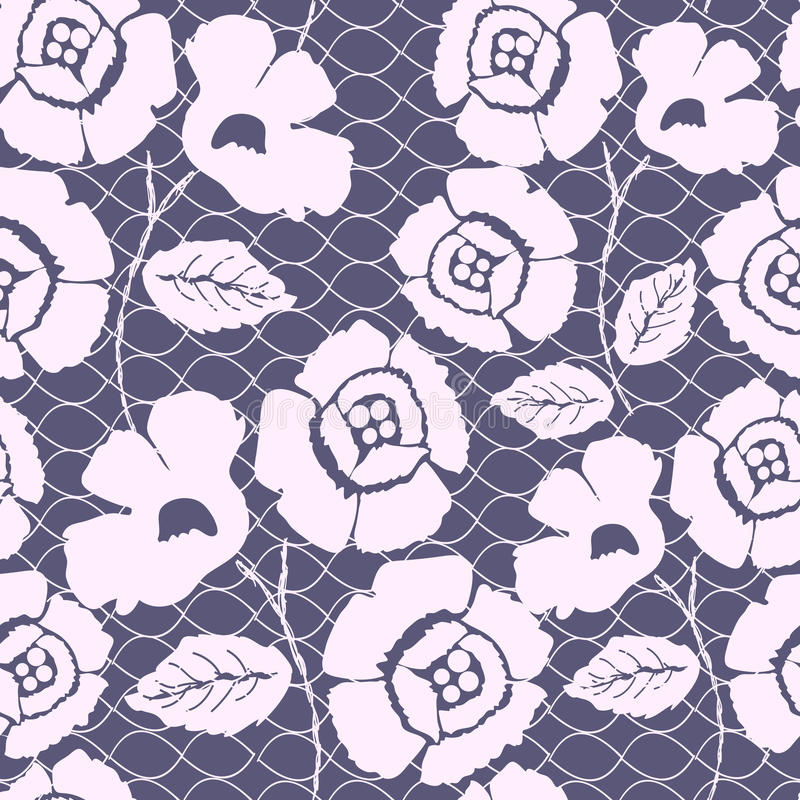 Seamless lace pattern. Seamless lace background. This is file of EPS10 format royalty free illustration