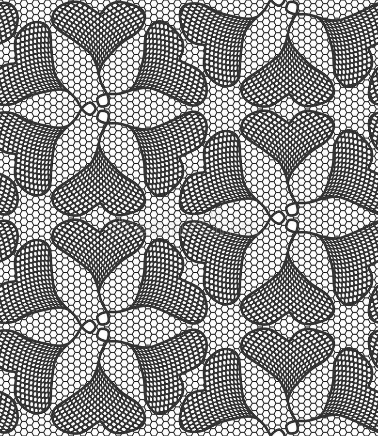 Seamless lace pattern made of ginkgo leaves vector illustration