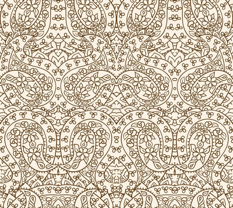 Seamless lace pattern, vector illustration stock illustration