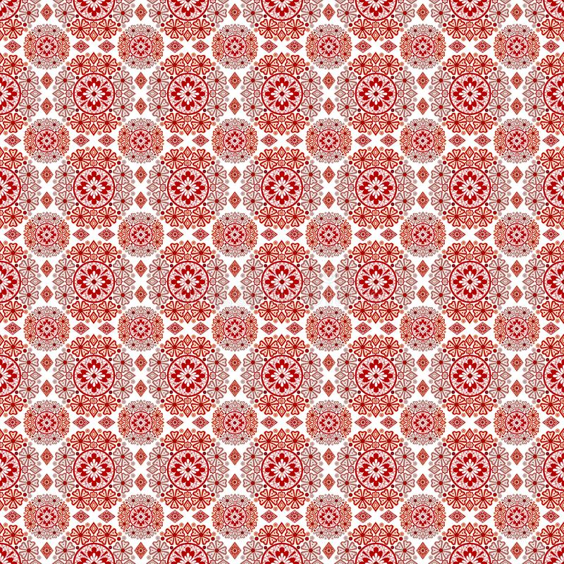 Seamless lace romantic pattern om white royalty free illustration