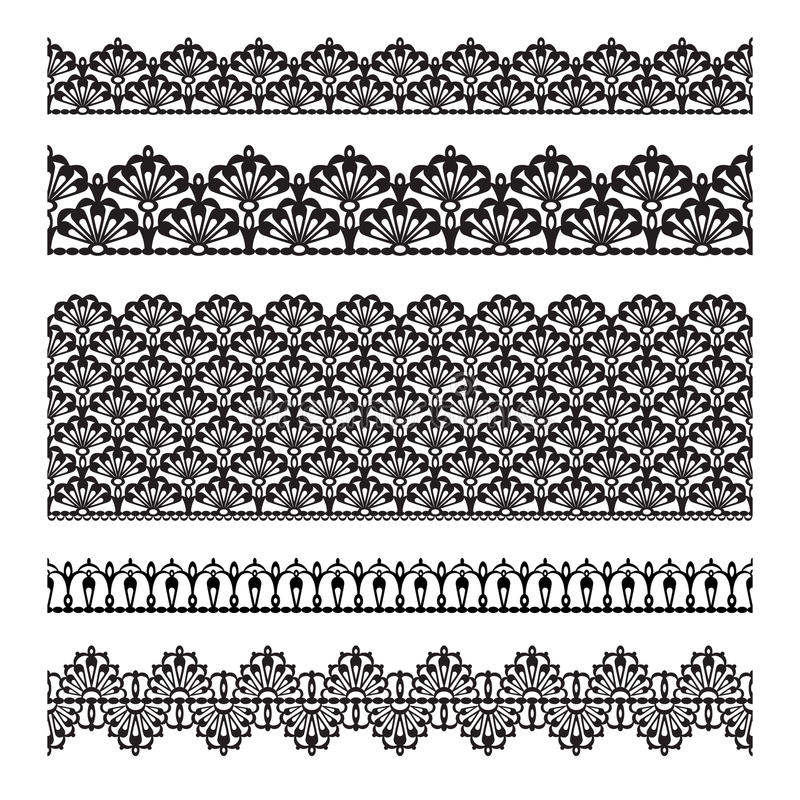 Download Seamless lace set stock vector. Image of guipure, beauty - 24312142