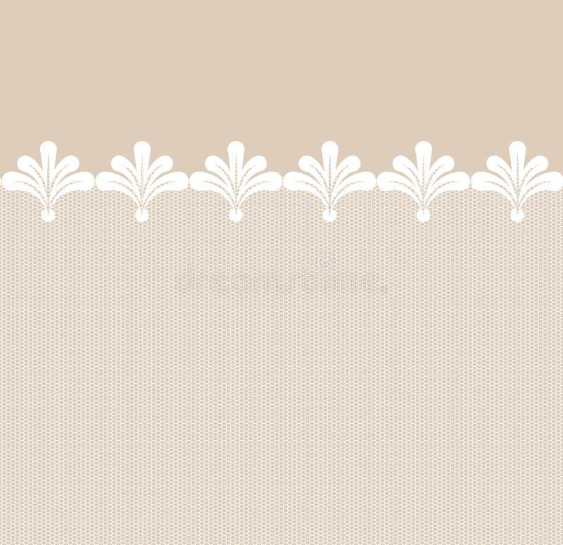 Seamless lacy border royalty free illustration