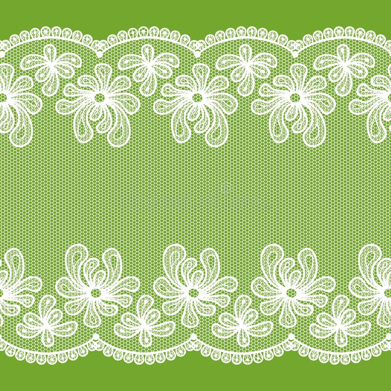 Seamless lacy stripe vector illustration