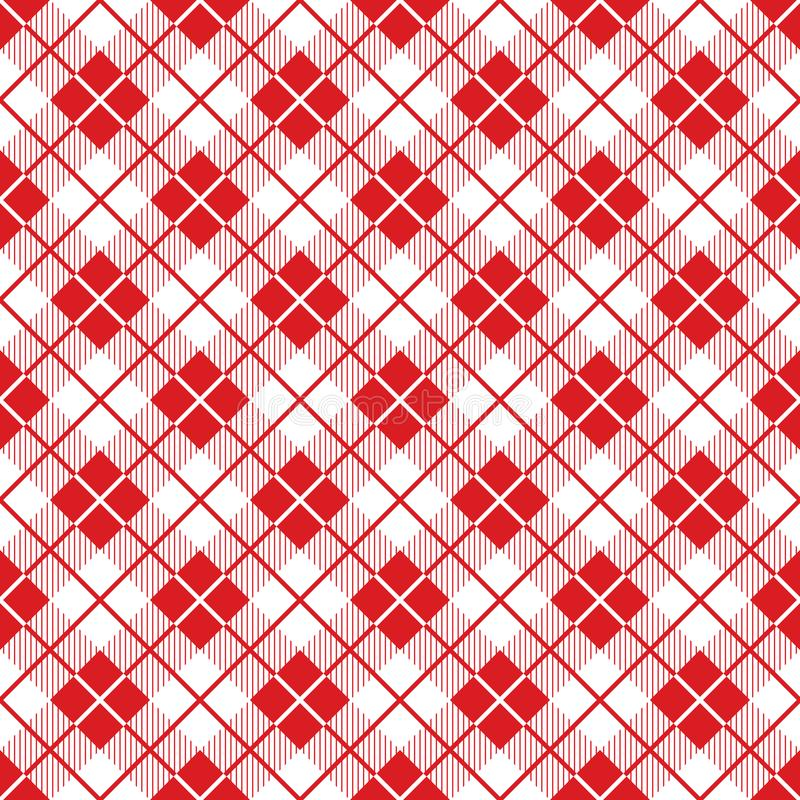 Seamless large red check pattern. Vintage restaurant check tablecloth style. royalty free illustration