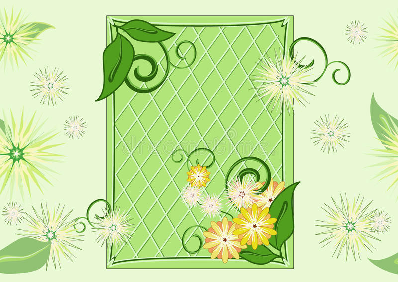 Download Seamless Leaf-and-flowers Green Pattern Stock Illustration - Illustration of flower, spring: 17044025