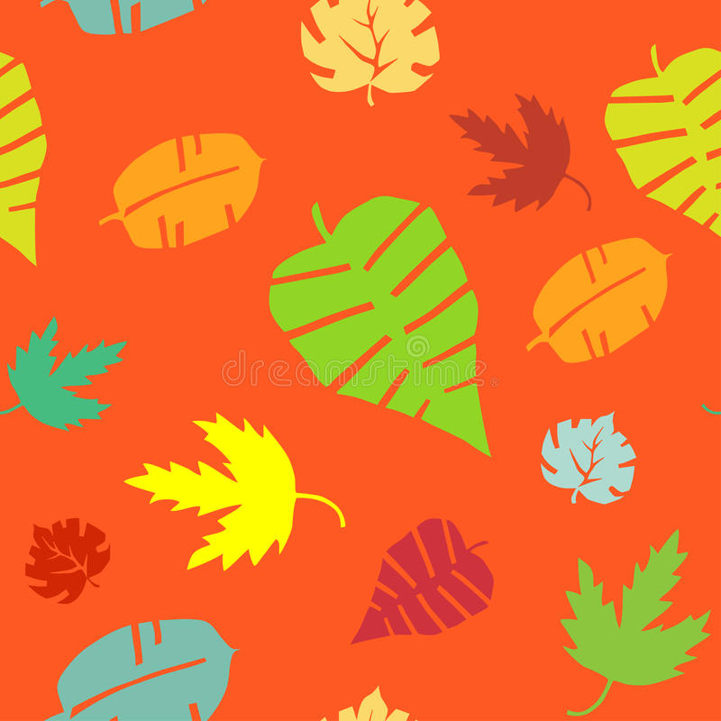 Seamless leaf pattern. Endless texture can be used for printing onto fabric, paper or scrap booking, wallpaper, pattern fills, web page background, surface stock illustration
