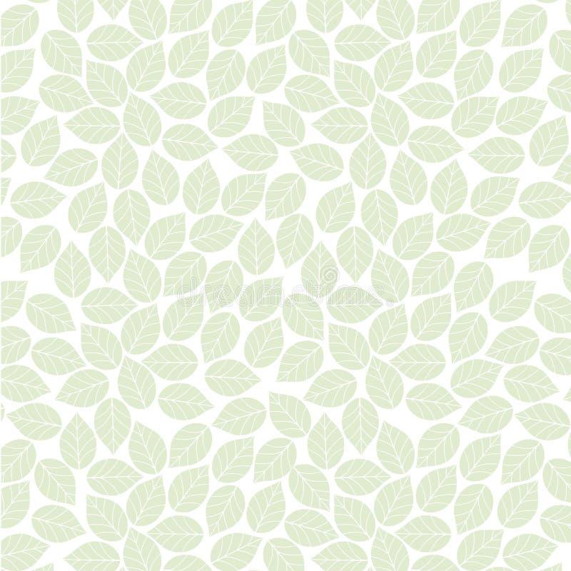 seamless leafmodell royaltyfri illustrationer