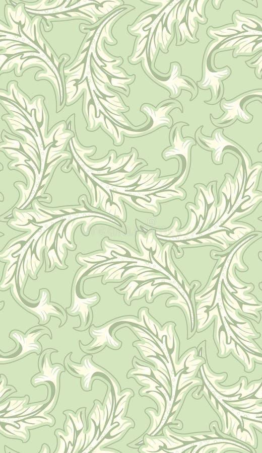 Seamless Leafy Wallpaper Pattern Stock Photos