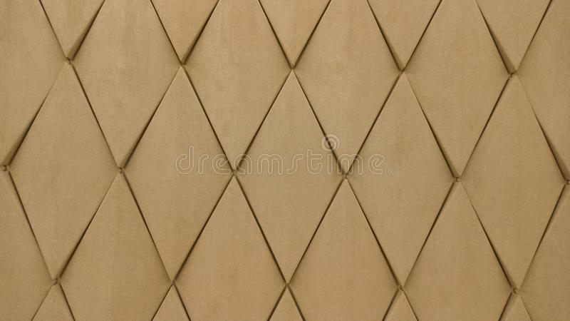 Seamless leather diamond shape pattern in beige color by craftmanship / seamless texture / abstract background material / handmade. Style royalty free stock images