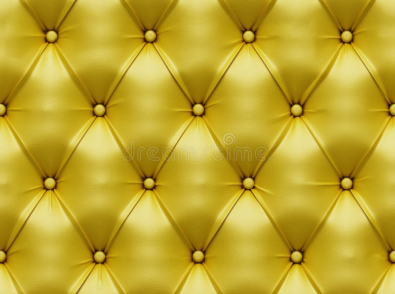 Seamless leather texture. Seamless yellow leather couch texture stock illustration