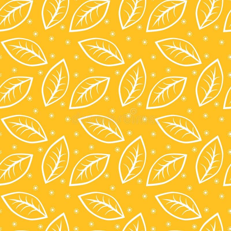 Download Seamless Leaves Autumn Background Stock Illustration - Illustration: 77605988
