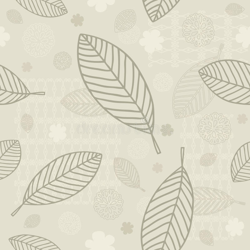 Download Seamless Leaves Background stock vector. Image of blade - 10300191