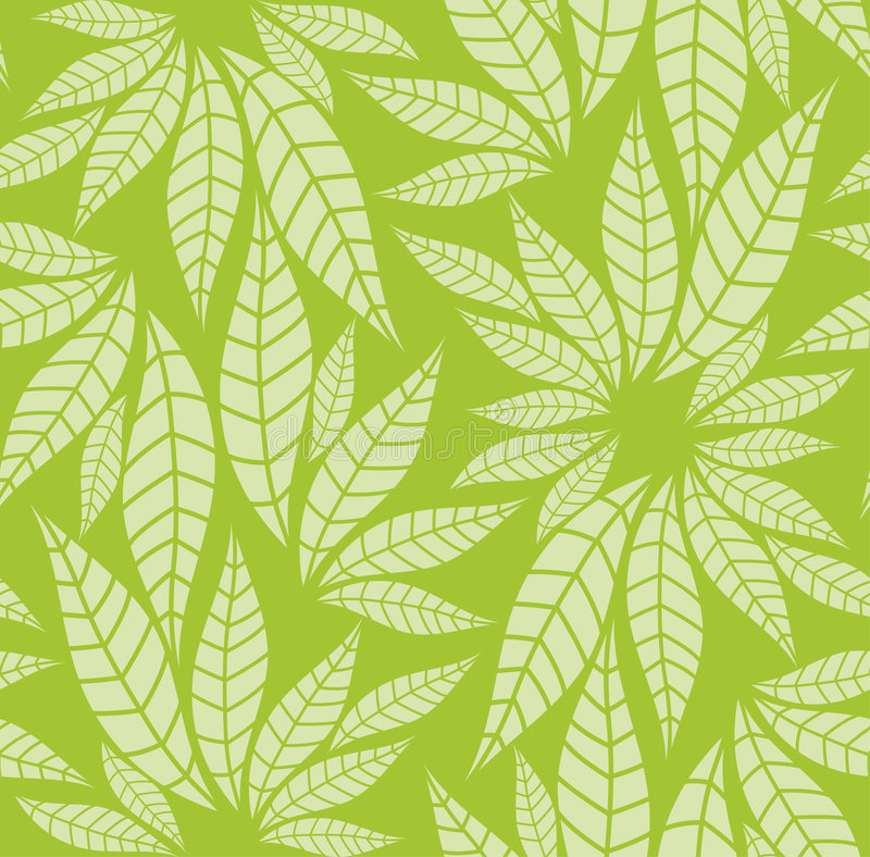 Download Seamless leaves pattern stock vector. Image of decoration - 6008362
