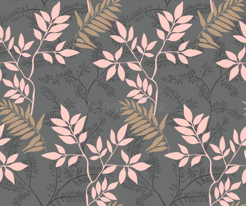 Seamless leaves pattern. vector illustration