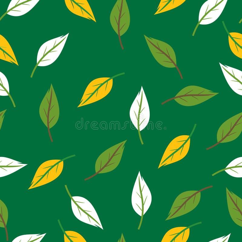 Seamless leaves texture stock illustration