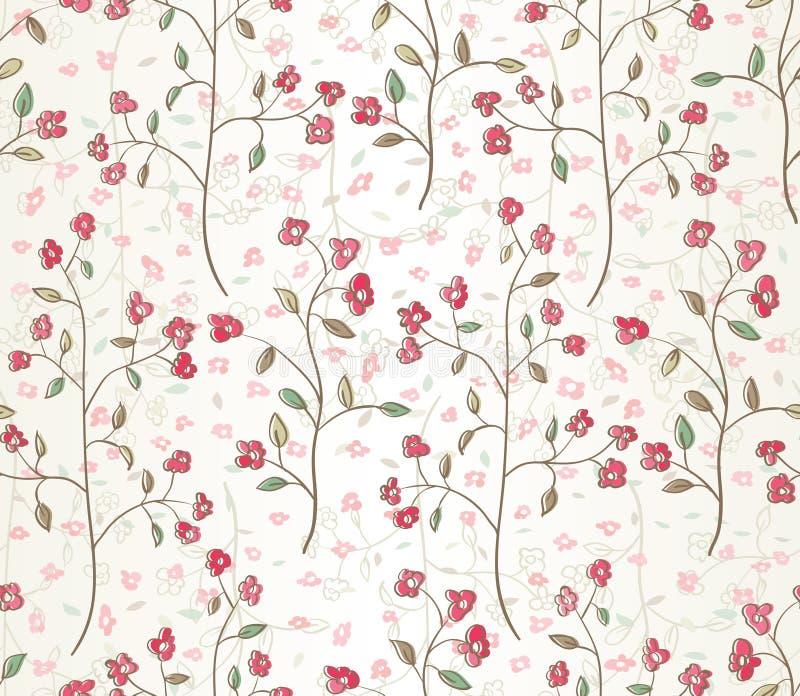 Seamless leaves wallpaper royalty free illustration