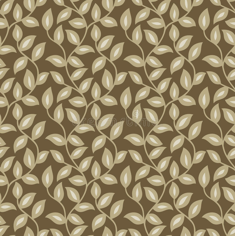 Download Seamless leaves wallpaper stock vector. Image of golden - 32374505