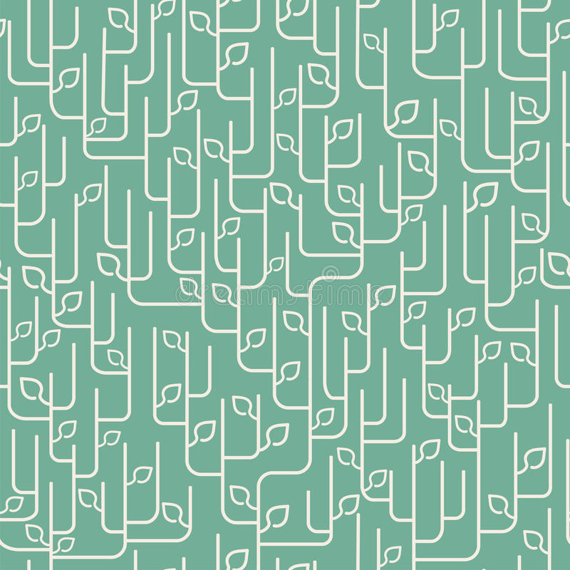 seamless leavesprydnadmodell stock illustrationer