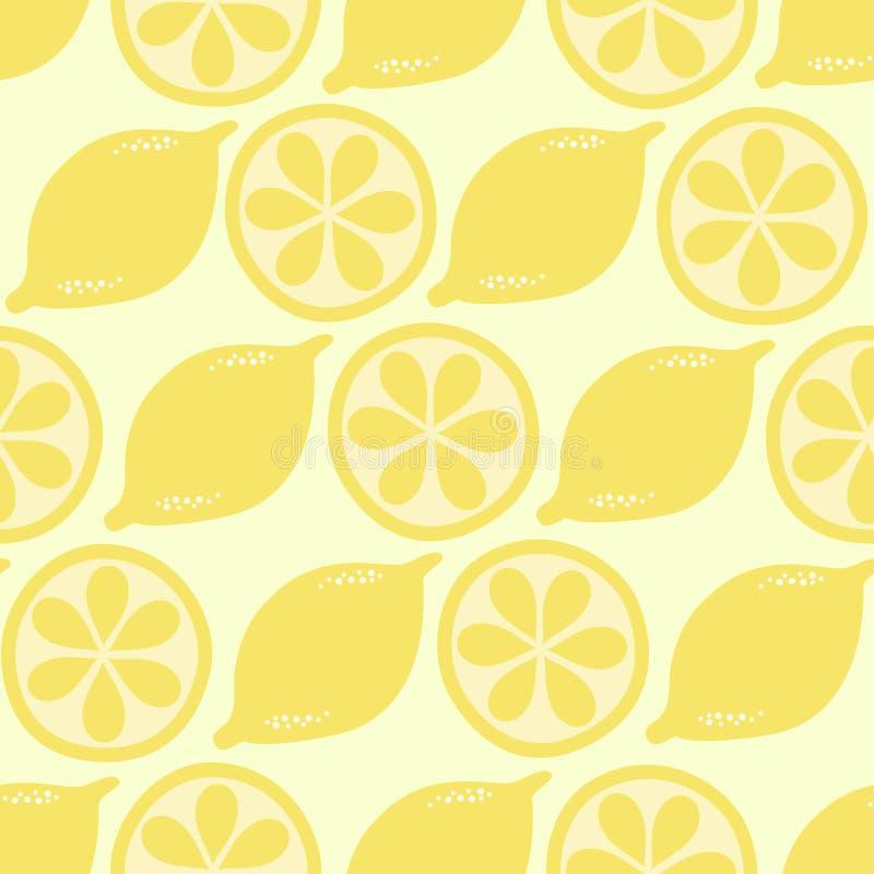 Seamless lemon on summer tone for background. stock photo