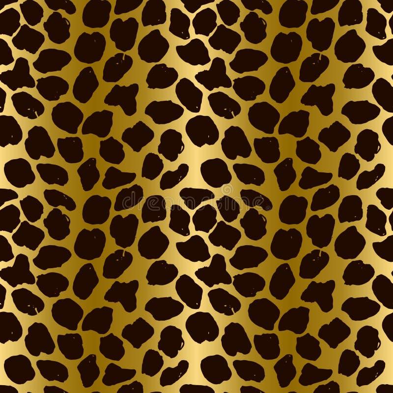 Seamless leopard pattern. Animal skin grunge texture. Giraffe gradient background. Vector illustration. royalty free illustration