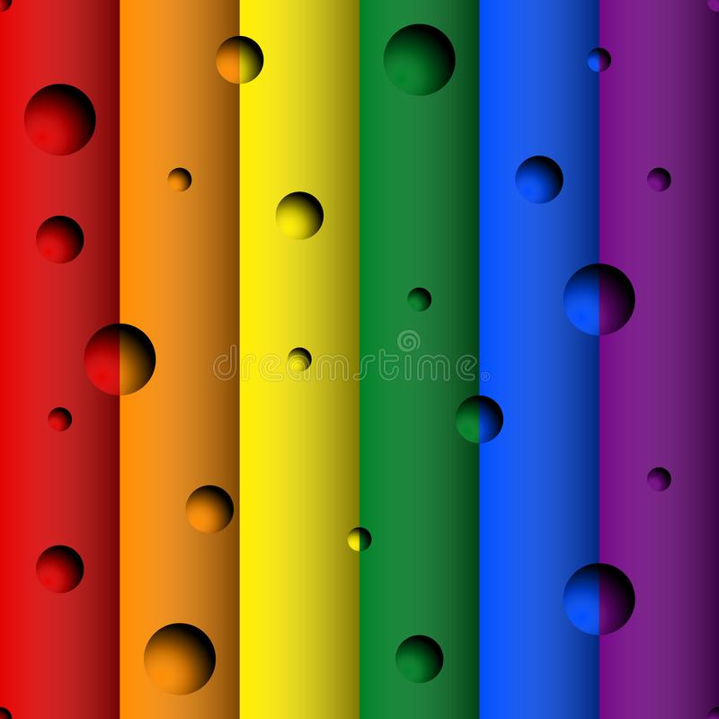 Seamless LGBT Rainbow Flag Colors background vector illustration