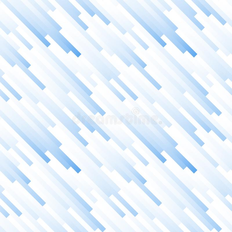 Seamless light abstract pattern. Geometric print composed of white and blue strips. Graphic line background. vector illustration