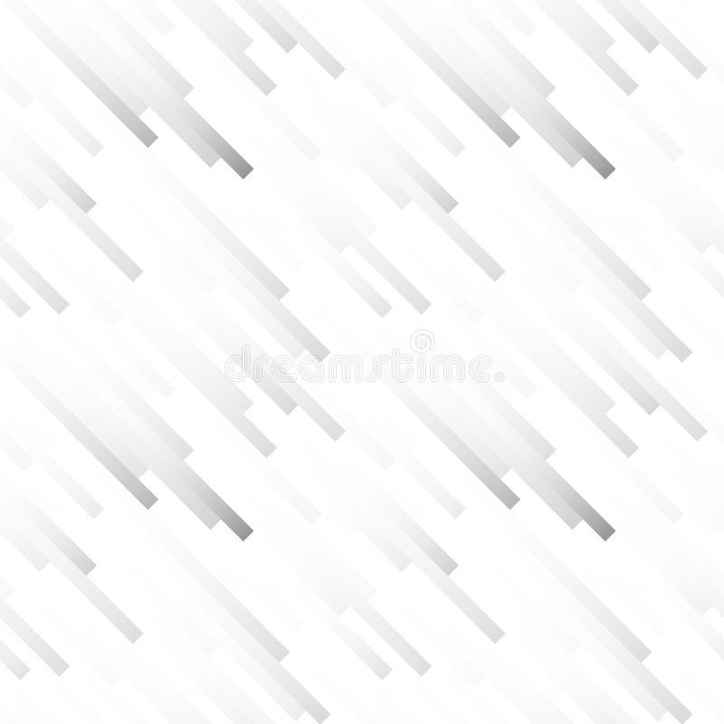 Seamless light abstract pattern. Geometric print composed of white and gray strips. Graphic line background. stock illustration