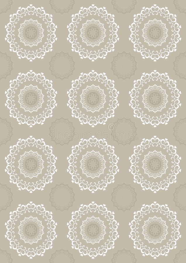 Download Seamless Light Beige Background With Openwork Circ Stock Vector - Image: 26015007