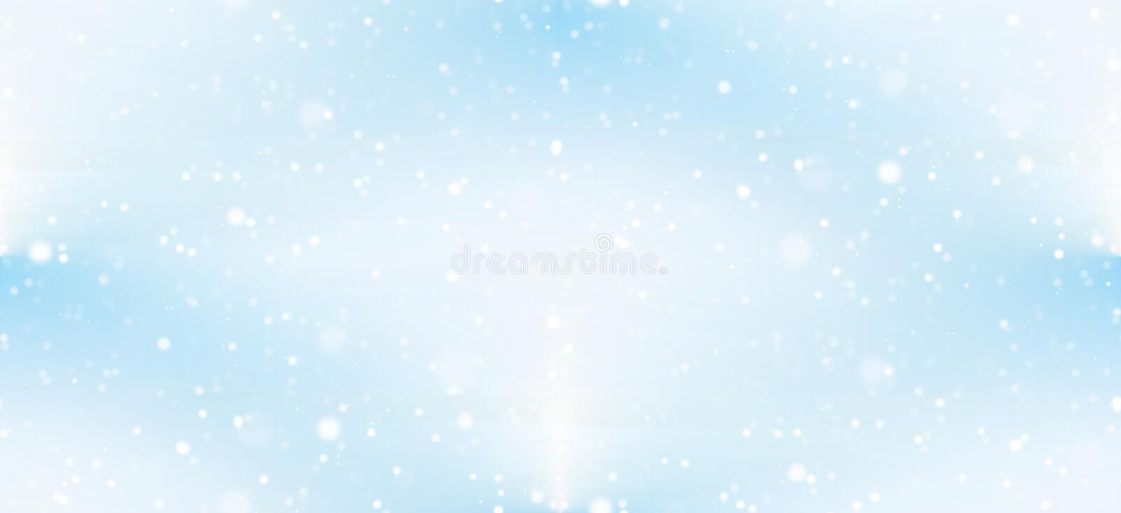 Seamless light blue sky background with snowflakes vector illustration