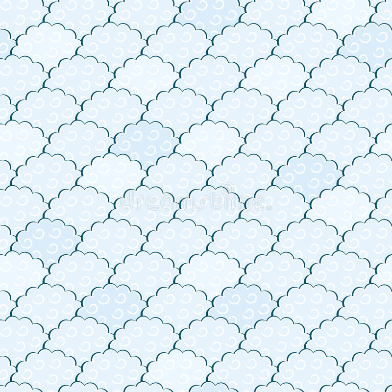 Download Seamless Light Blue And White Fluffy Cloud Pattern Royalty Free Stock Photo - Image: 24386825