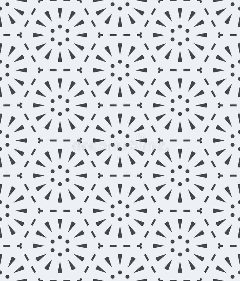 Seamless light gray simple geometric pattern vector illustration