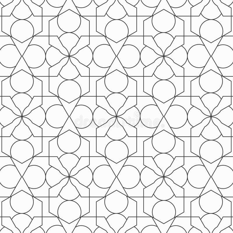 Seamless linear geometric pattern. Geometric simple print. Vector repeating texture. Modern hipster swatch. Minimal styles royalty free illustration