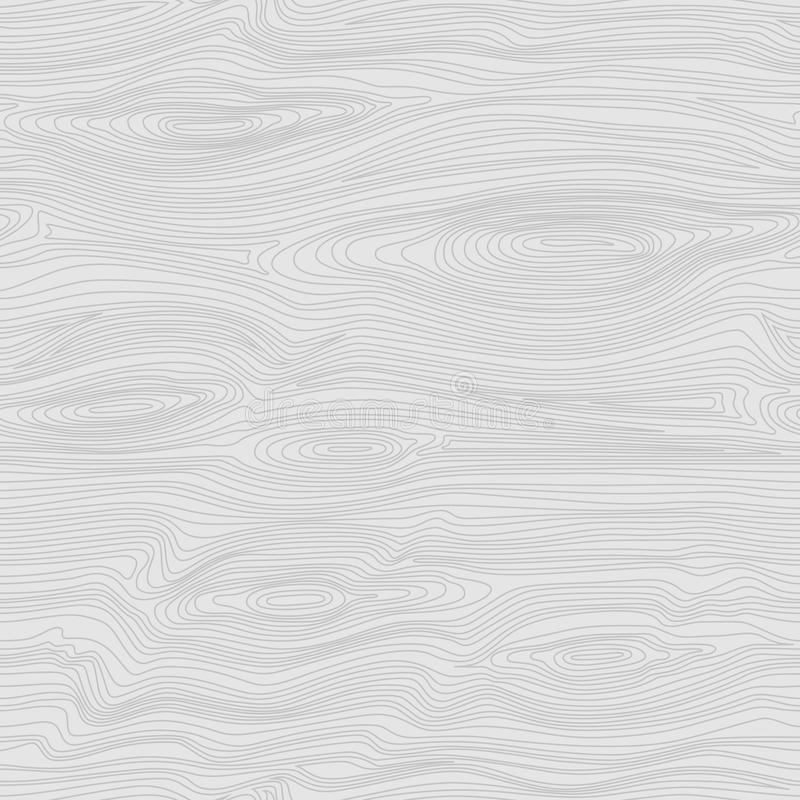 Seamless Linear Pattern With Light Wood Texture. White