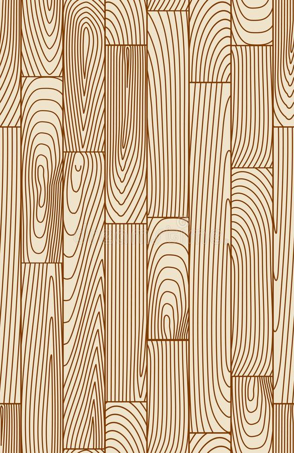 Seamless linear wooden pattern royalty free illustration