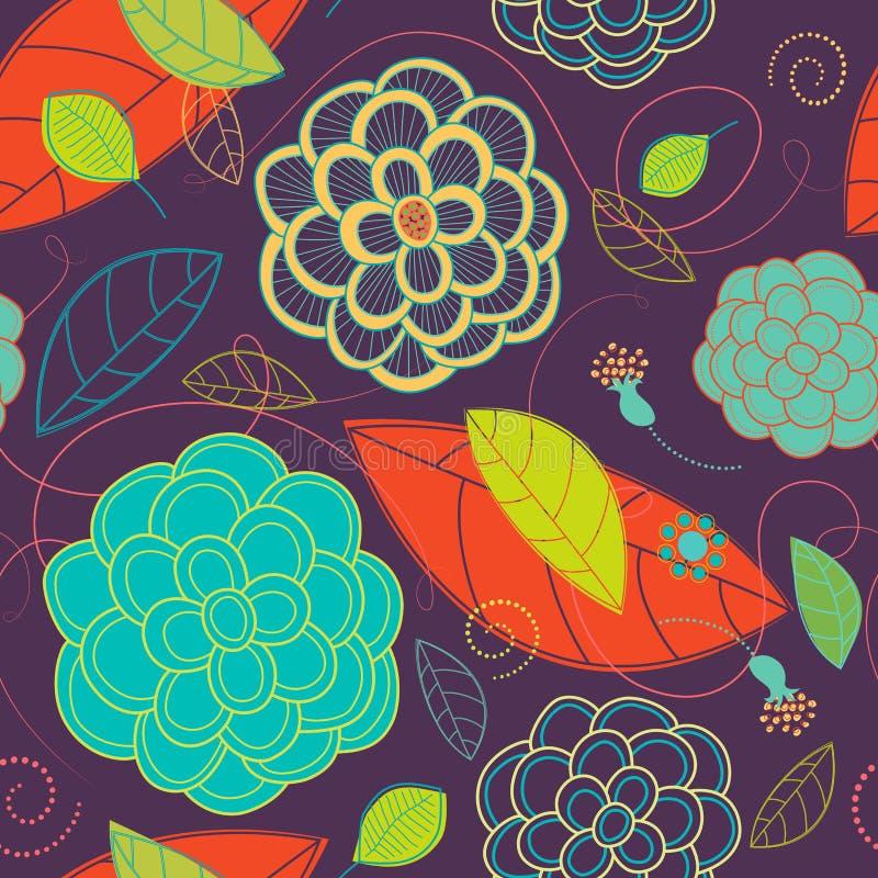 Download Seamless Ljus Blommor Och Swirlsmodell Vektor Illustrationer - Illustration av purpurt, växt: 27276290