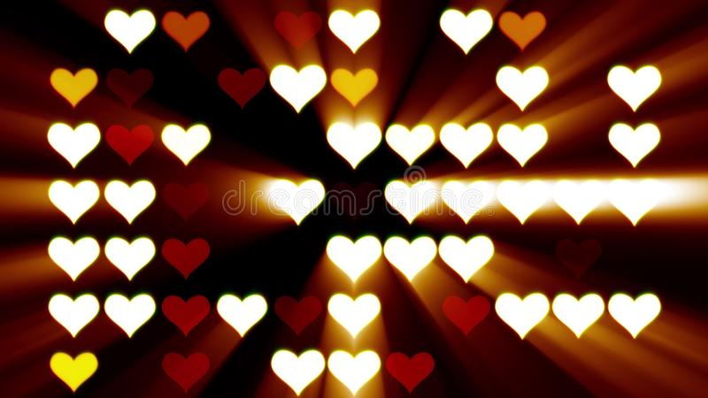 Seamless loop disco wall hearts lights blinking animation background - New quality universal motion dynamic animated royalty free illustration