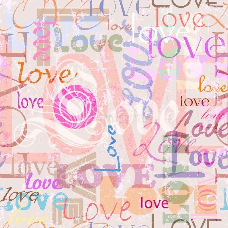 Seamless love background royalty free illustration