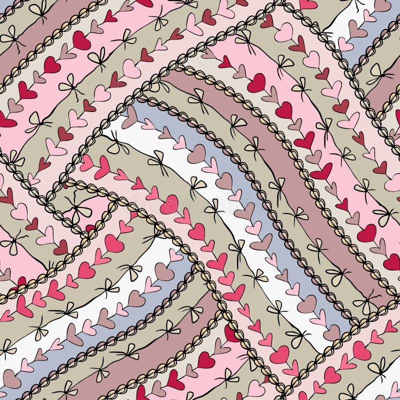 Seamless love lace stock illustration