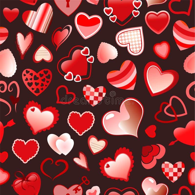 Seamless Love Pattern Stock Image