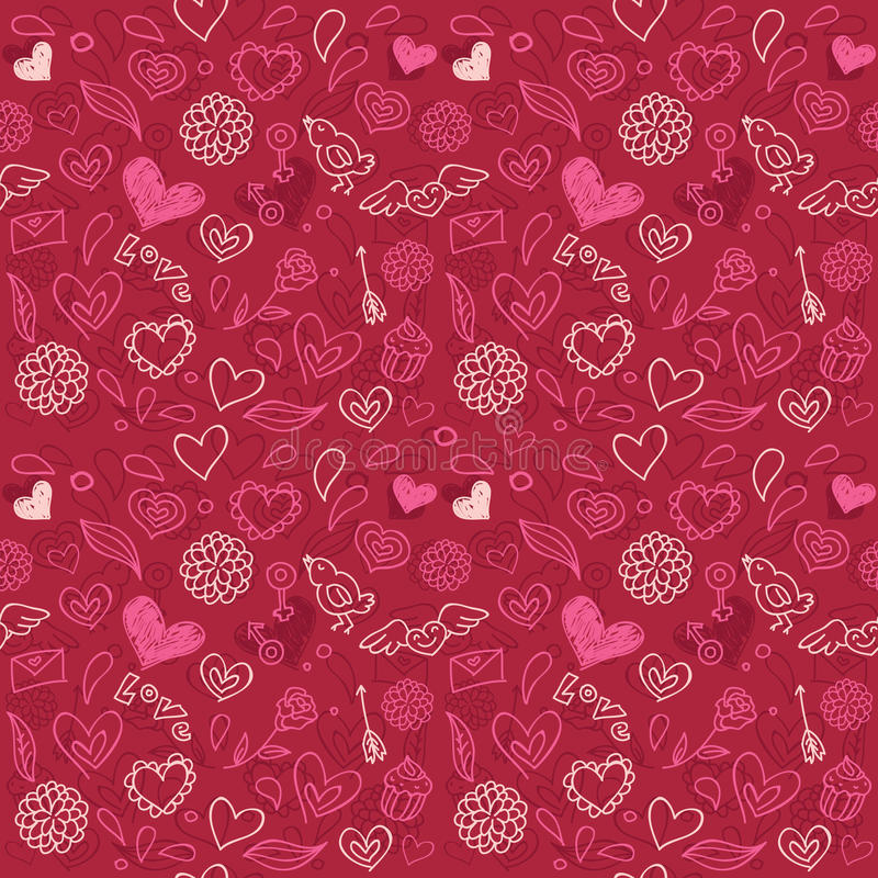 Download Seamless love pattern stock vector. Illustration of seamless - 22788899