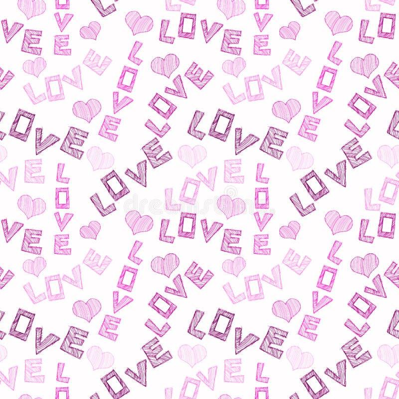 Download Seamless Love Words stock illustration. Illustration of grunge - 92463545