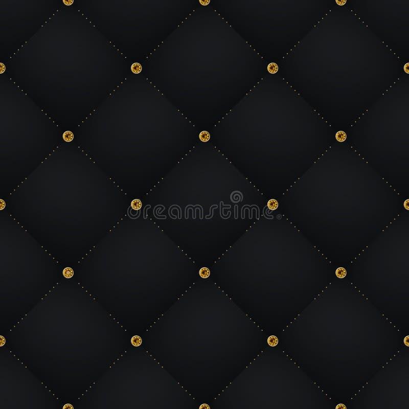 Seamless Luxury Dark Black Pattern And Background With ...  Black