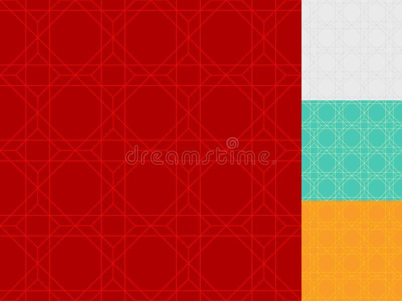 Seamless luxury patterns set, geometric backgrounds stock illustration