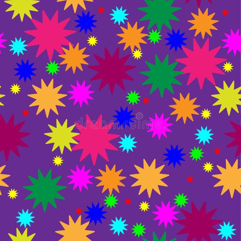 Den slumpmässiga stjärnan mönstrar royaltyfri illustrationer