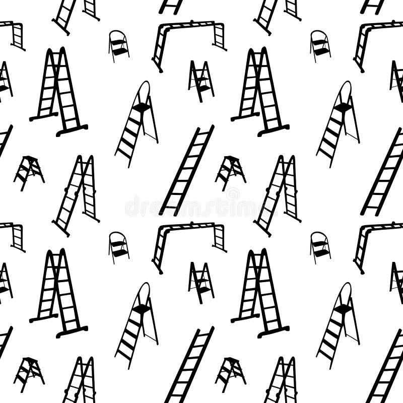 Seamless mönstra av stegesilhouette. vektor stock illustrationer