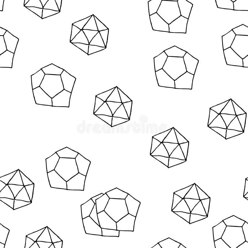 Seamless geometriska mönstrar. arkivbild