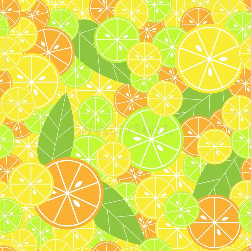 Seamless mönstra med citruset vektor illustrationer
